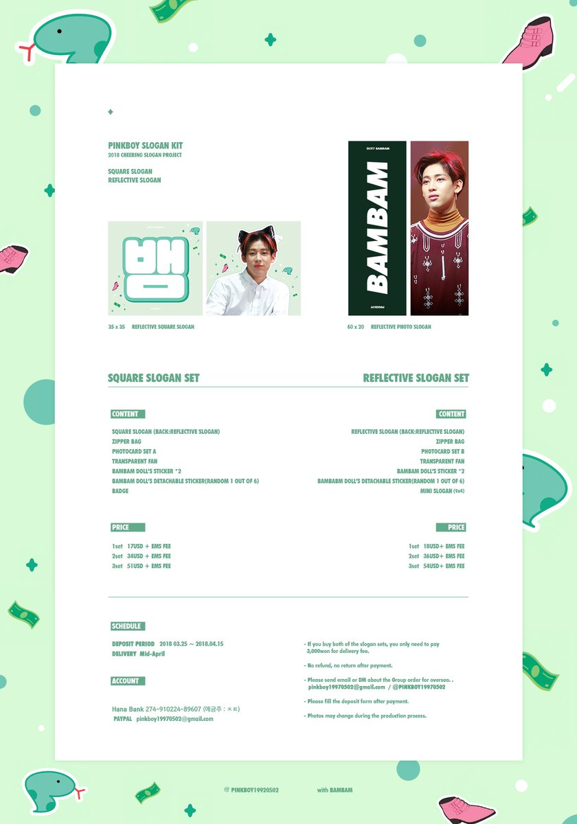 PRE-ORDER] Fansite Slogan Group Order – GOT7 INDONESIA